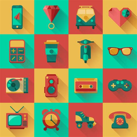 flat design icon download free flat hipster icons design pack orphicpixel