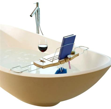bathtub caddy umbra aquala bamboo bathtub caddy contemporary bathroom accessories by home clever inc