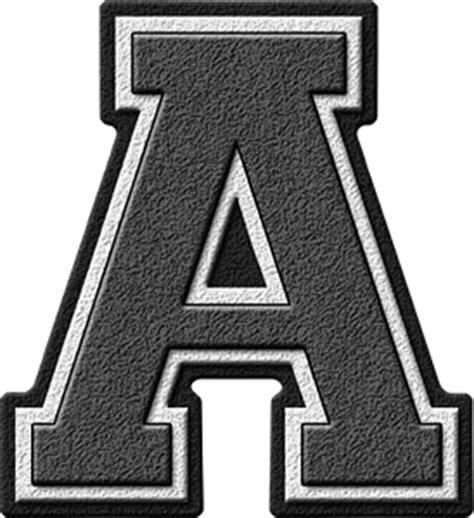 Letter Grey Presentation Alphabets Grey Varsity Letter A