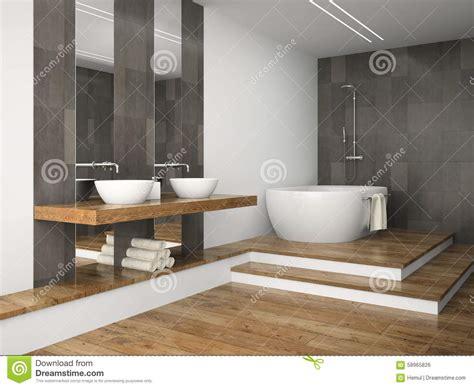 Formidable Plancher Salle De Bain #6: int%C3%A9rieur-de-salle-de-bains-avec-le-plancher-en-bois-58965826.jpg