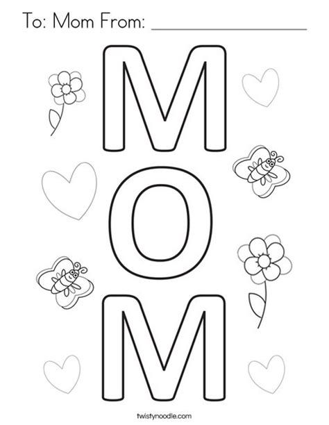 printable coloring pages for mom to mom from coloring page twisty noodle