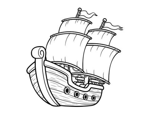 barco dibujo dibujo de barco de vela para colorear dibujos net