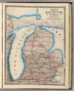 michigan map michigan cram atlas company 1875
