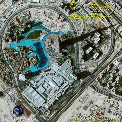 Floor Plan Mapper by Geoeye 1 Satellite Image Of Burj Khalifa In Dubai