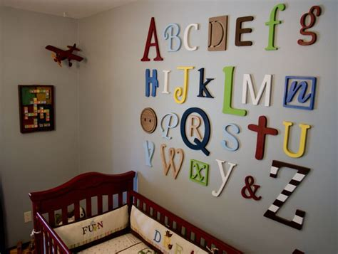 nursery wall decor letters alphabet nursery wall decor do it and how