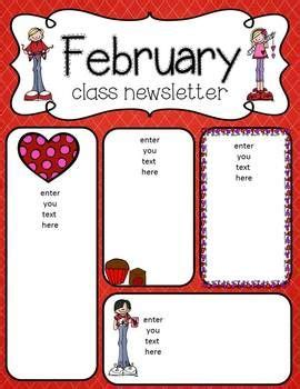 february newsletter template 15 best newsletter templates images on pinterest class newsletter newsletter ideas and