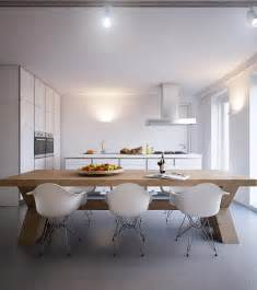 modern orange dining chairs wooden kitchen in the kitchen diner a chunky wooden table adds another element of