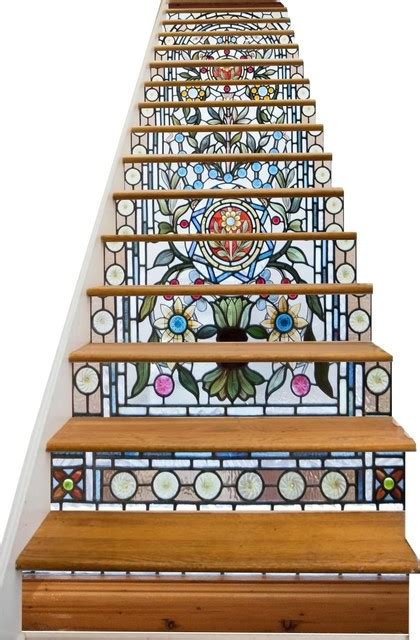 stained glass in home decor accents letters from eurolux stained glass flowers decorative adhesive vinyl stair