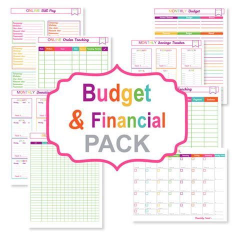 printable financial planner free financial printable planner calendar template 2016