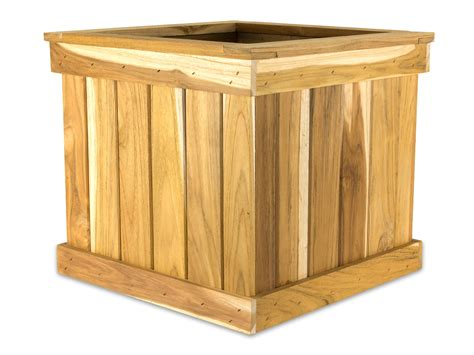 teak tree planter box 24 cube teak planter