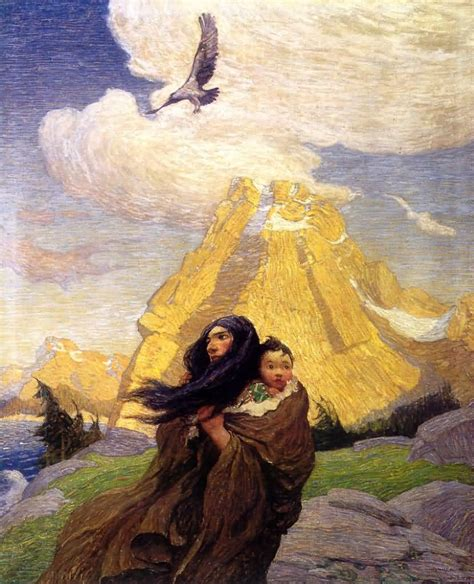 Drawing N Painting by Newell Convers Wyeth The Song Of The Eagle That Mates