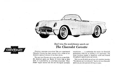 free car manuals to download 1953 chevrolet corvette free book repair manuals 1953 corvette ad 01