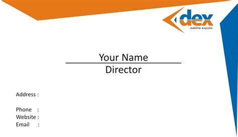desain kartu nama biru contoh desain kartu nama jasa desain logo perusahaan terbaik