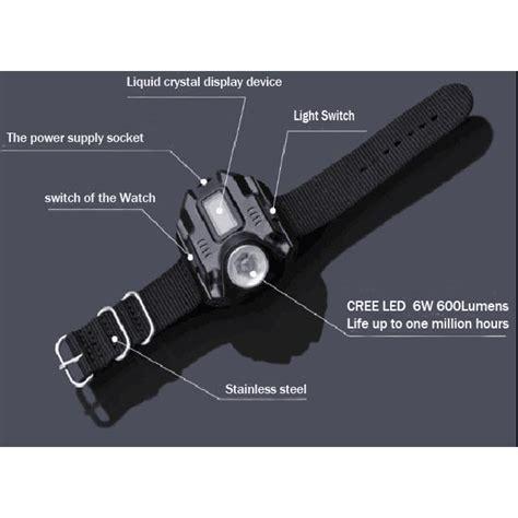 Senter Jam Tangan 4 Mode senter jam tangan multifungsi sangat terang tokoonline88