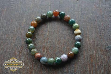 Batu Akik Pandan 3 Biji gelang batu akik wanita indian agate 171 jual gelang tasbih