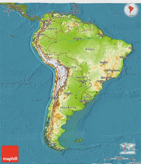 South America Search Physical Map Of South America Driverlayer Search Engine