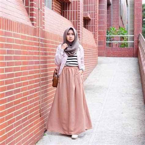 style hijab casual simple kekinian remaja vintage