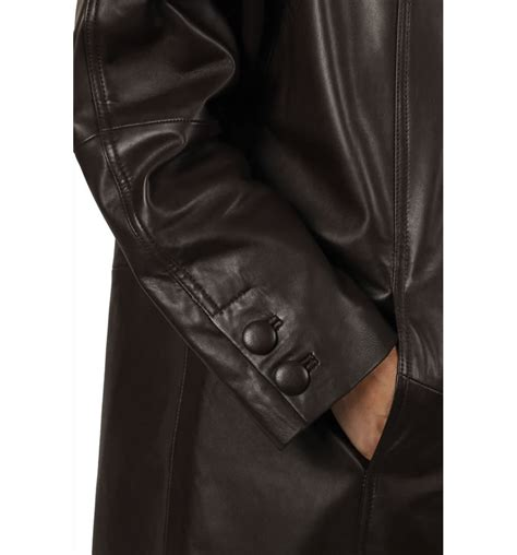 swing leather coats 3 4 length brown leather swing coat from simons leather