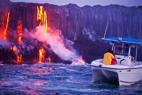 hawaiian lava boat tours cost hawaii volcanoes national park on big island hawaii