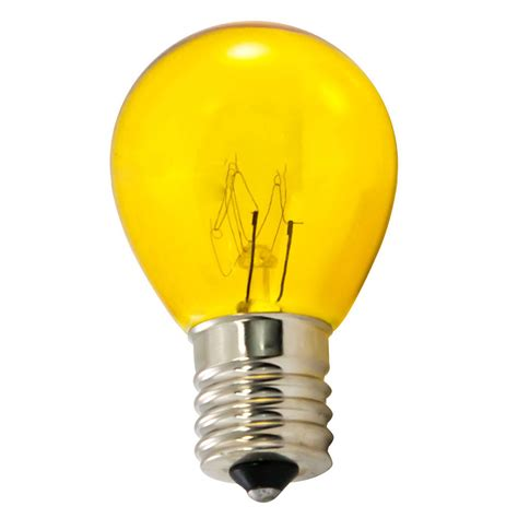 yellow light bulbs b10 s11 25 pack