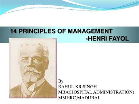 Mba Principles Of Management by 14 Principles Of Management