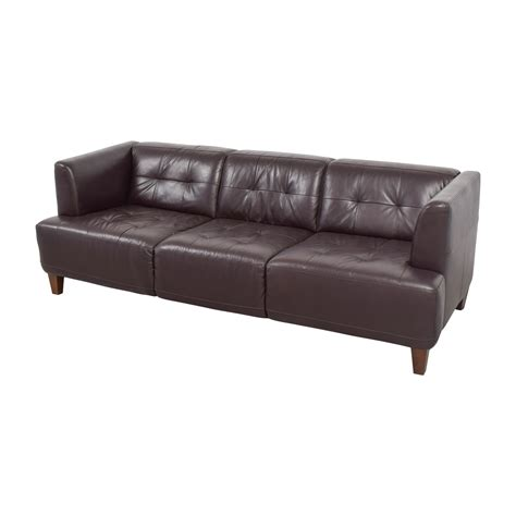 tufted brown leather couch 73 off macy s macy s brown tufted leather couch sofas