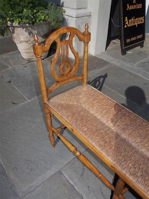 window bench for sale french cherry lyre back window bench circa 1830 for sale
