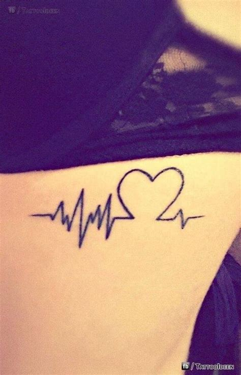 heartbeat rhythm tattoo heartbeat tattoo tattoo designs pinterest couple