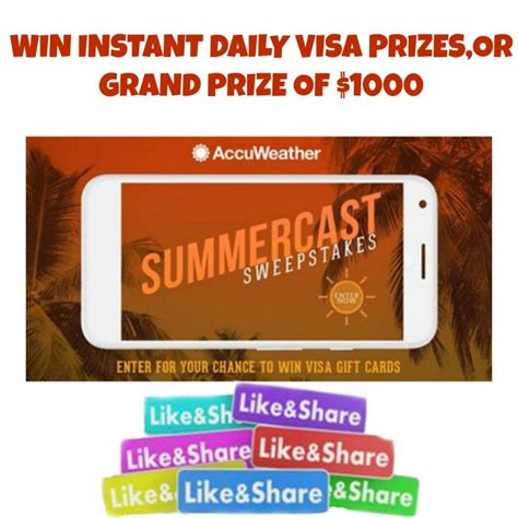 Free Instant Win Competitions - accuweather summercast sweepstakes instant win game win