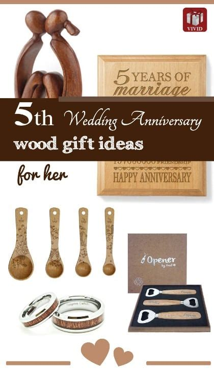 5th wedding anniversary gifts wood 5th wedding anniversary gift ideas for s gift
