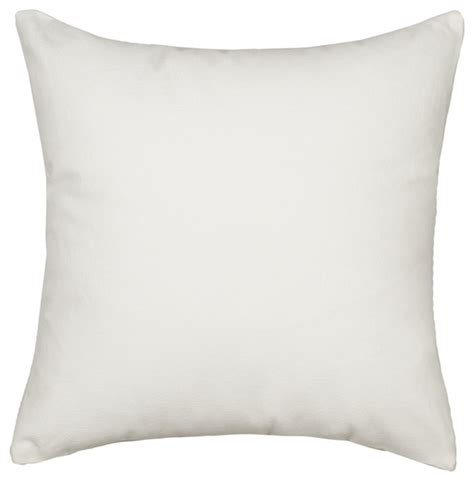 Silver fern decor solid white accent throw pillow cover amp reviews houzz