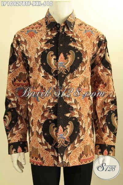 Kemeja Premium Jumbo model baju batik jawa tengah lengan panjang jumbo hem