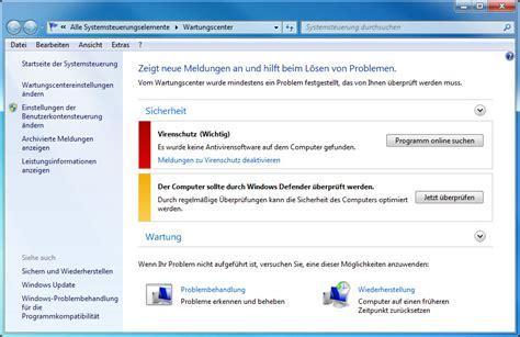 wann wurde windows installiert das windows wartungscenter meldet dass keine