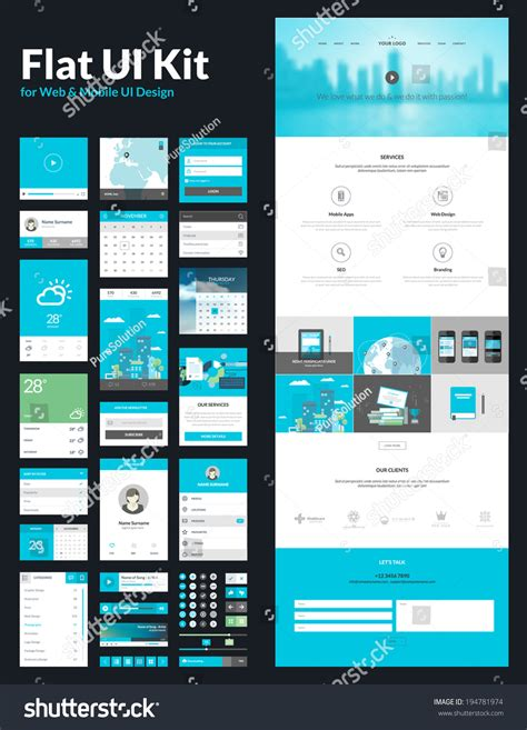 App Design Vorlagen One Page Website Design Template All In One Set For Website Design That Includes One Page