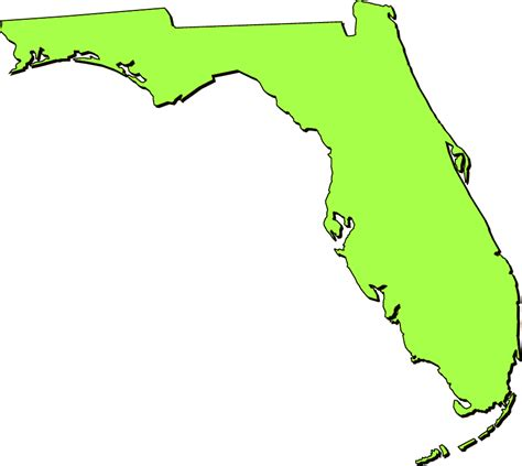 Yellow Pages Florida Lookup Florida Quot Clipart Quot Style Maps In 50 Colors