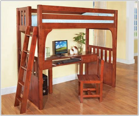 bunk bed desk combo wood full size loft bed with desk wood uncategorized