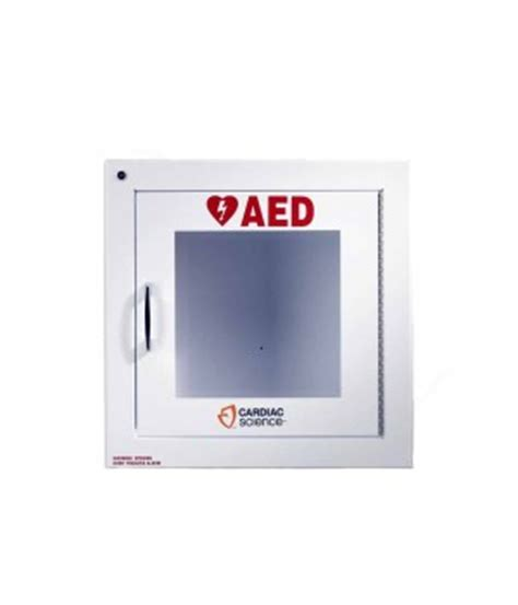 cardiac science aed cabinet aed wall cabinet surface mount with alarm security