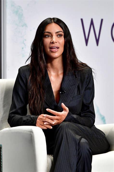 kim kardashian forbes summit kim kardashian suits up in vintage jean paul gaultier at