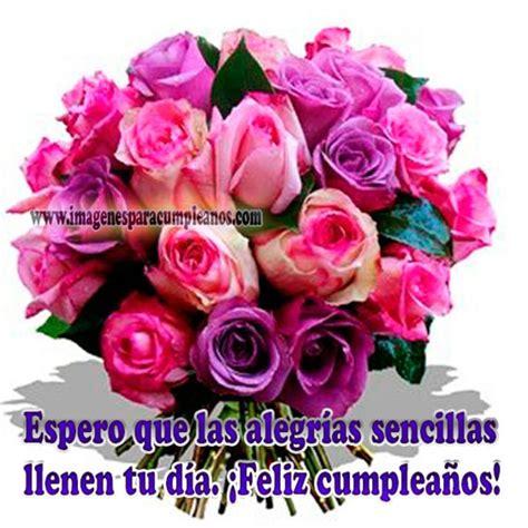 imagenes de rosas de cumpleaños im 225 genes de feliz cumplea 241 os con flores ツ tarjetas de