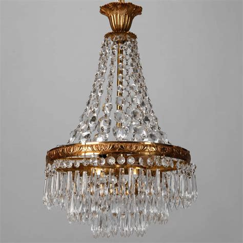 Three Tier Chandelier Small Three Tier Empire Style Chandelier At 1stdibs