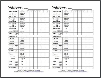 clue score cards template free yahtzee score sheets