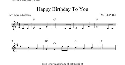 printable happy birthday sheet music alto sax free tenor saxophone sheet music happy birthday to you