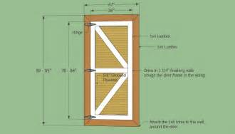 How To Make Interior Sliding Barn Doors Barn Shed Door Panel Ideas Your Own Set Of