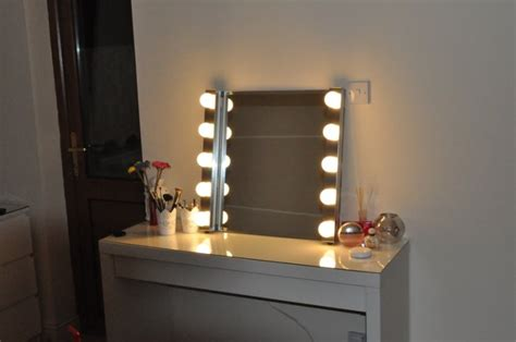 table mirror with lights style vanity mirror with lights for dressing