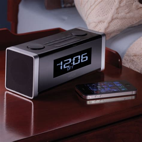 android clock radio the bluetooth clock radio pairs wirelessly with an iphone android powered device or