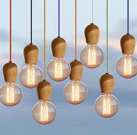 Chandelier Style Light Shade Diy New Modern Diy Wooden Edison Pendant Light Ceiling