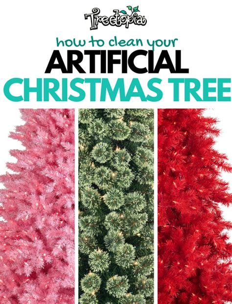 how to clean an artificial christmas tree treetopia blog