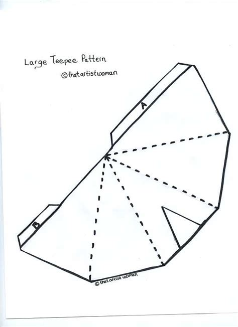 How To Make A Teepee Out Of Paper - teepee pattern for the teepee pattern