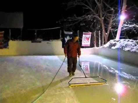 backyard ice rink zamboni backyard rink zamboni wmv youtube