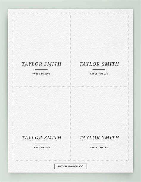 Name Card Template Wedding Tables by Name Card Template 16 Free Sle Exle Format